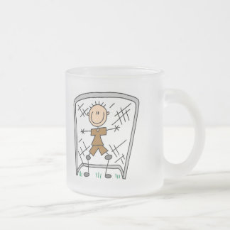 Soccer Boy Goalie Tshirts and Gifts Frosted Glass Coffee Mug