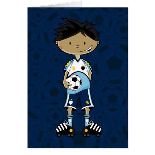 Soccer Boy Holding Ball Card
