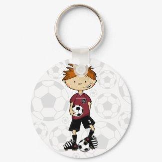 Soccer Boy Keychain keychain