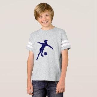 Soccer Boy Kicking Silhouette T-Shirt