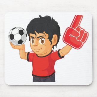 Soccer Boy Mouse Pad