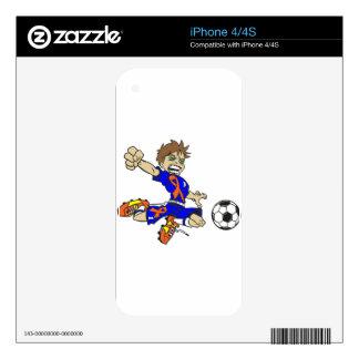 SOCCER BOY ORANGE RIBBON iPhone 4 DECAL