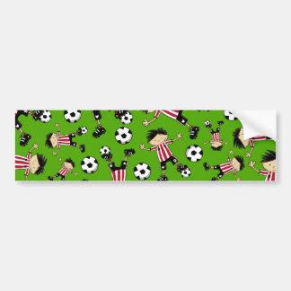 Soccer Boy Pattern Bumper Sticker