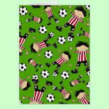 Soccer Boy Pattern Card