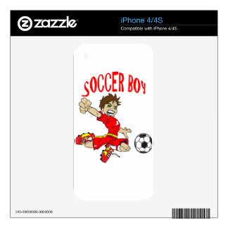 SOCCER BOY RED TEXT DECAL FOR iPhone 4