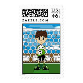 Soccer Boy Stamp
