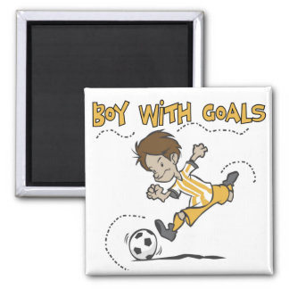 Soccer - Boy With Goals Tshirts and GIfts 2 Inch Square Magnet