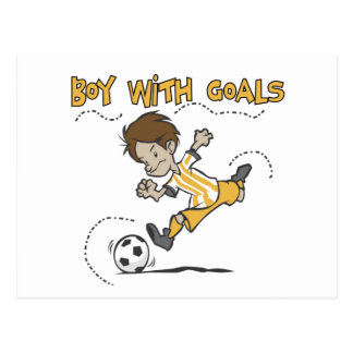 Soccer - Boy With Goals Tshirts and GIfts Postcard