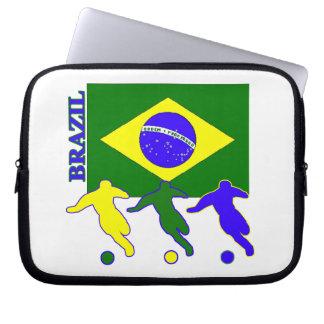 Soccer Brazil Laptop Sleeve