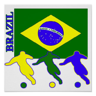 Soccer Brazil Poster
