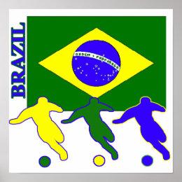 Soccer Brazil Poster ...