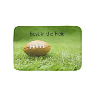 Soccer brown American football best in the field Bath Mat