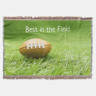 Soccer brown American football best in the field Throw Blanket