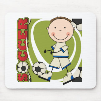 SOCCER - Brunette Boy tshirts and Gifts Mouse Pad