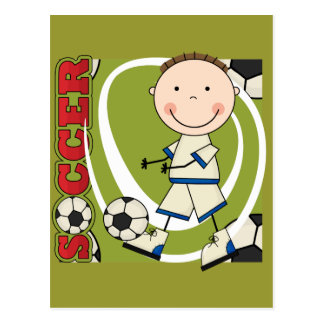 SOCCER - Brunette Boy tshirts and Gifts Post Card