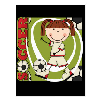 Soccer Brunette Girl T-shirts and Gifts Post Card