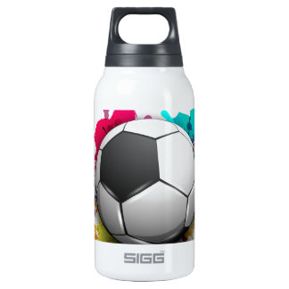 Soccer Burst Insulated Water Bottle