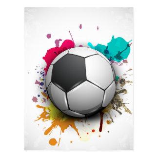 Soccer Burst Postcard