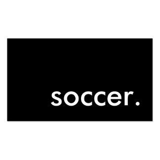 soccer. business card template