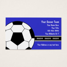 Soccer Business Cards at Zazzle
