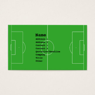 soccer business cards -
