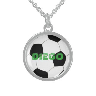 Soccer by The Happy Juul Company Sterling Silver Necklace
