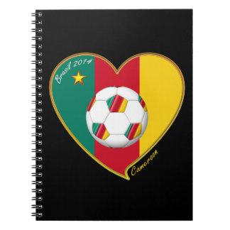 """Soccer """"CAMEROON"""" FOOTBALL Team, Fútbol de Camerún Cuadernos"""