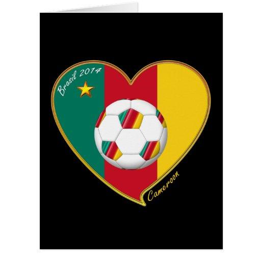 """Soccer """"CAMEROON"""" FOOTBALL Team, Fútbol de Camerún Felicitacion"""
