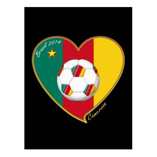 """Soccer """"CAMEROON"""" FOOTBALL Team, Fútbol de Camerún Tarjetas Postales"""