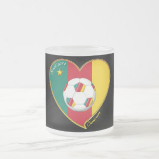 """Soccer """"CAMEROON"""" FOOTBALL Team, Soccer of Frosted Glass Coffee Mug"""