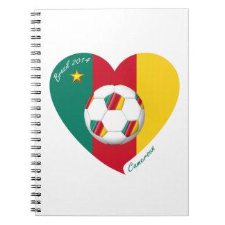 """Soccer """"CAMEROUN"""" Football Team, Fútbol de Camerún Libro De Apuntes Con Espiral"""
