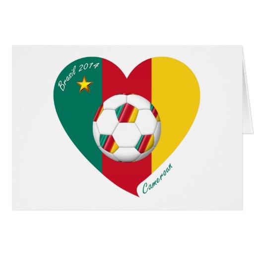"Soccer ""CAMEROUN"" Football Team, Fútbol de Camerún Tarjeta"