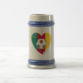 "Soccer ""CAMEROUN"" Football Team, Soccer of Beer Stein"