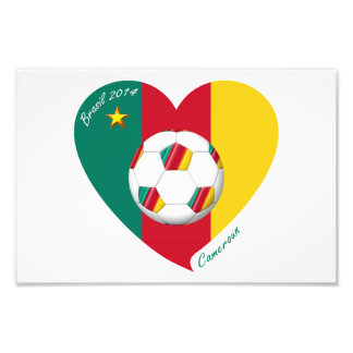 "Soccer ""CAMEROUN"" Football Team, Soccer of Camerou Photo Art"