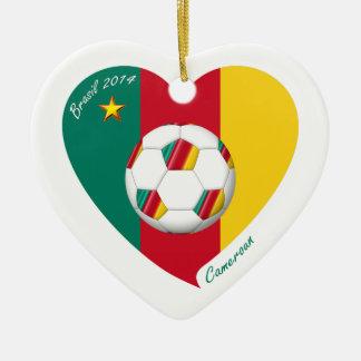 "Soccer ""CAMEROUN"" Football Team, Soccer of Ceramic Ornament"