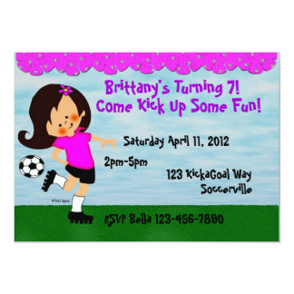 Soccer Celebration Invitation