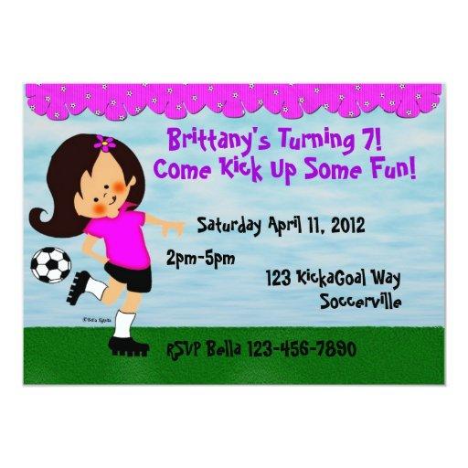 Soccer Celebration Invitation