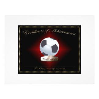 Soccer Certificate of Achievement Flyer