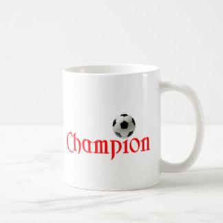 Soccer CHAMPION Classic White Coffee Mug