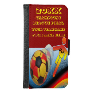 Soccer Champions League Final In Red Wallet Phone Case For Samsung Galaxy S6