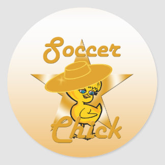Soccer Chick #10 Classic Round Sticker