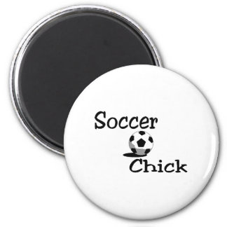 Soccer Chick 2 Inch Round Magnet