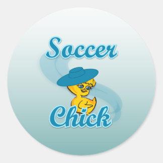 Soccer Chick #3 Classic Round Sticker