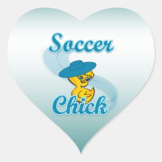 Soccer Chick #3 Heart Sticker