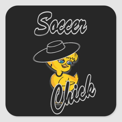 Soccer Chick #4 Square Stickers