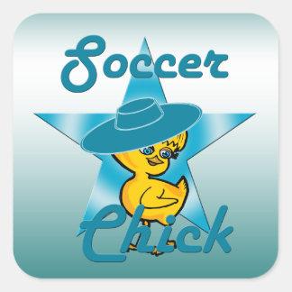 Soccer Chick #7 Square Sticker