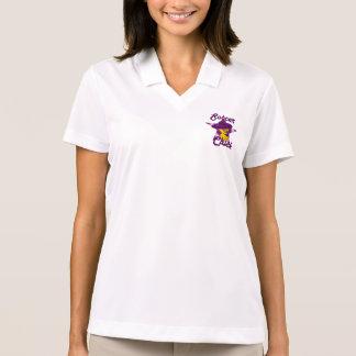 Soccer chick #9 polo shirt