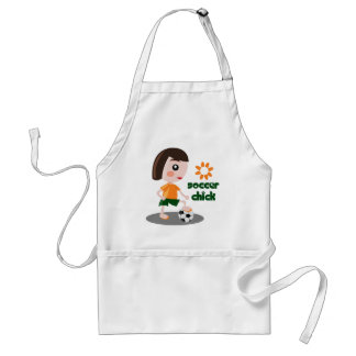 Soccer Chick Adult Apron
