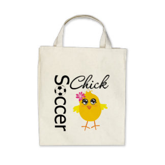 Soccer Chick Tote Bags