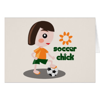 Soccer Chick Card